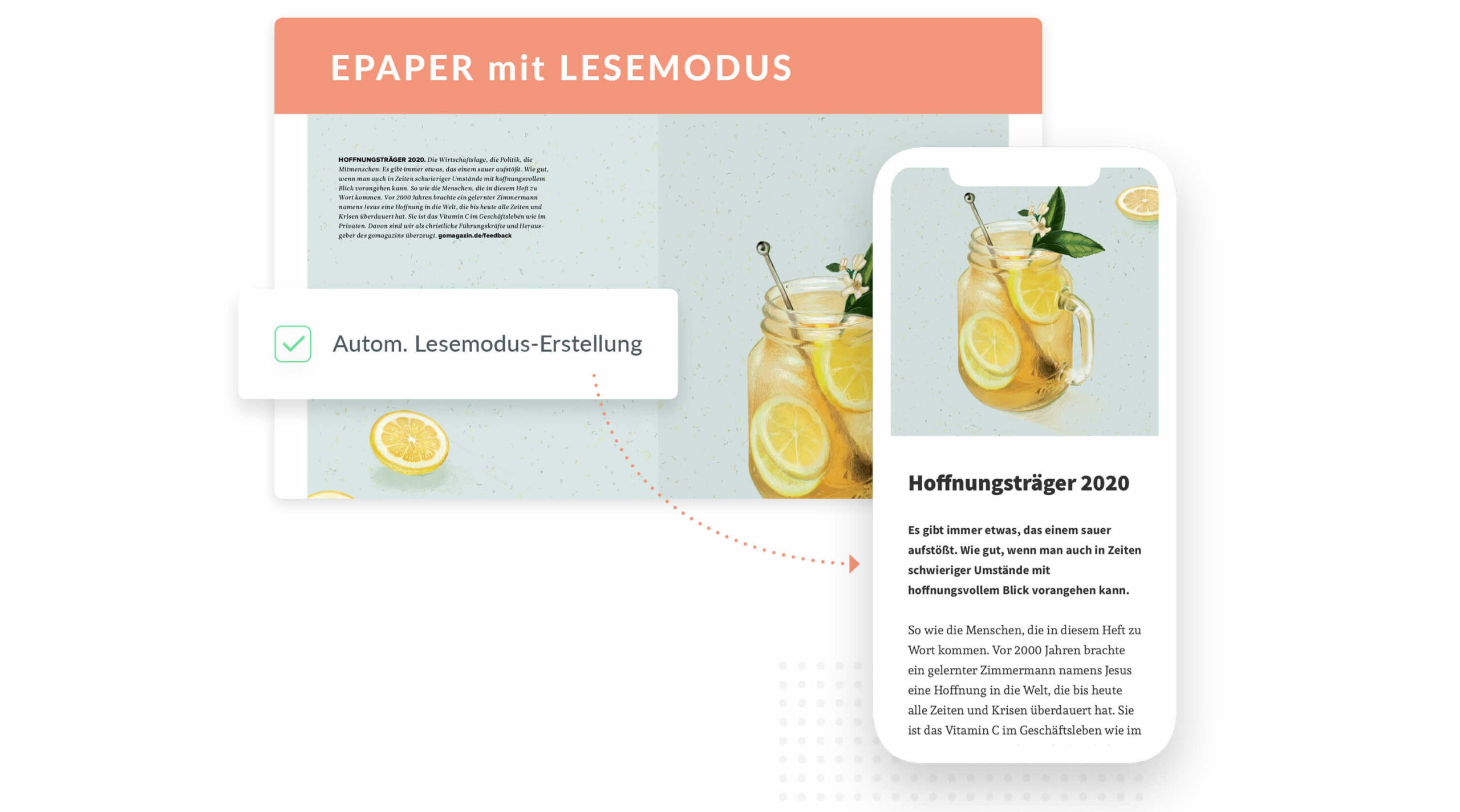 Lesemodus Reading Mode Smarticle ePaper App iOS Android